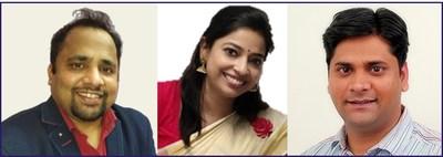 From left to right: Gautam Jain, Payal Sinha, Sanjay Shukla