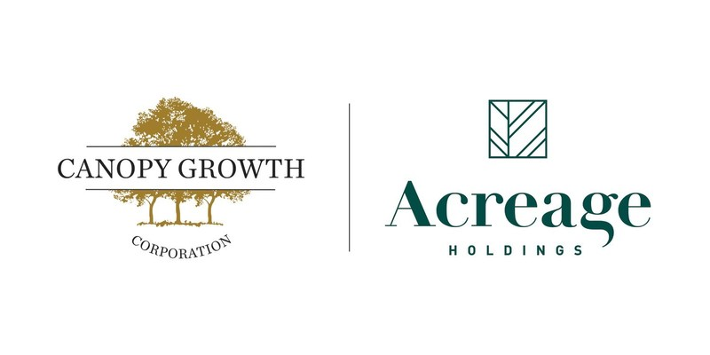Canopy Growth Corporation and Acreage Holdings, Inc. logos (CNW Group/Canopy Growth Corporation)