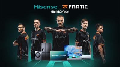 Hisense anuncia parceria mundial com organização de eSports Fnatic