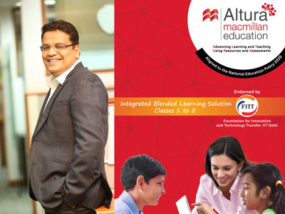Mr. Rajesh Pasari, Managing Director, Macmillan Education India at the launch of Altura