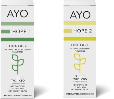 AYO's Hope 1 + Hope 2 a medical cannabis product scientifically formulated for Autism patients of all ages.