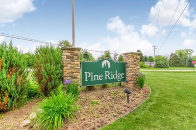 Among the community improvements made at Pine Ridge, by Havenpark Communities, is this new monument sign at the entrance of the community.