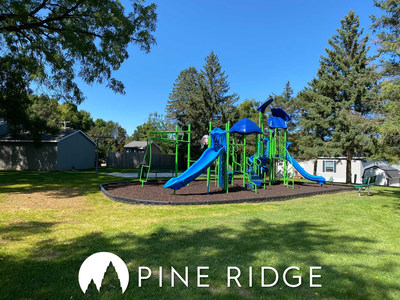 Another community improvement made at Pine Ridge, by Havenpark Communities, is this new playground for residents to enjoy.