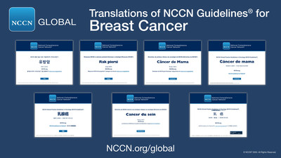 NCCN Guidelines® for Breast Cancer in Chinese, French, Japanese, Korean, Polish, Portuguese, and Spanish.