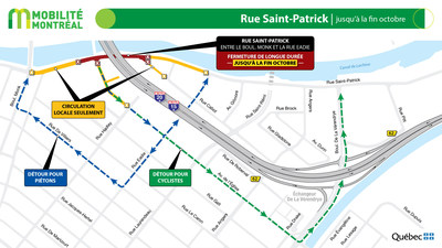 Rue Saint-Patrick, fin octobre (Groupe CNW/Ministère des Transports)