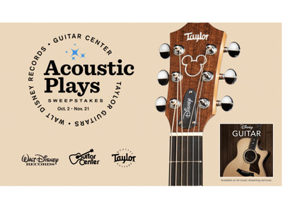 WALT DISNEY RECORDS, TAYLOR GUITARS AND GUITAR CENTER HAVE TEAMED UP FOR ONE ACOUSTICALLY AWESOME SWEEPSTAKES