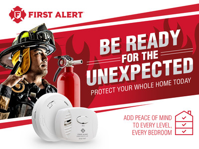 First Alert and firefighters across the nation encourage you to be ready for the unexpected this Fire Prevention Month and protect your home with simple safety reminders.