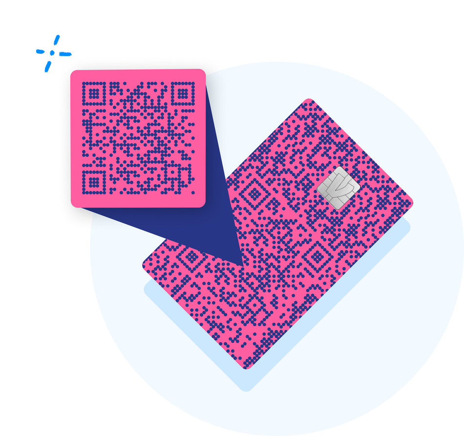 Each Venmo Credit Card is printed with a customer's unique QR code on the front.