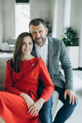 Pictured: Ekaterina Rybakova, co-founder and president of the Rybakov Foundation, Igor Rybakov, founder of PlaySchool, entrepreneur, co-founder of the Rybakov Foundation