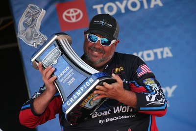 Frank Talley, of Temple, Texas, has won the 2020 NOCO Bassmaster Elite at Lake Guntersville with a four-day total of 64 pounds, 3 ounces.