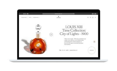 LOUIS XIII COGNAC e-com time collection product page (PRNewsfoto/LOUIS XIII COGNAC)