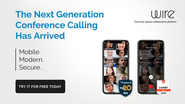 The first fully encrypted conferencing platform