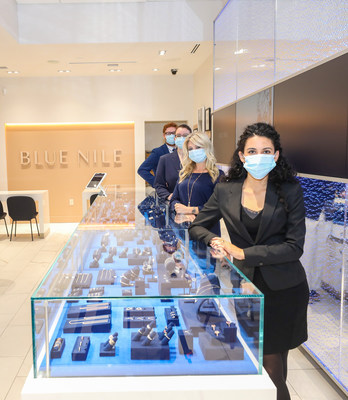 Blue Nile diamond jewelry consultants at the Park Meadows showroom in Lone Tree, Colo. (Photo credit: Rocky Mountain Photography)