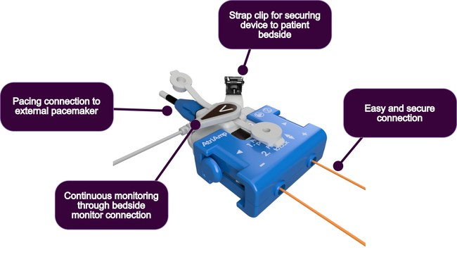 The AtriAmp Device with connections