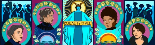 Design of the Equality for All Mural, Created by Sunny Mullarkey
