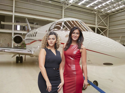 Eclipse Air Charter's Managing Director Yasmin Alam (right) and Director of Charter Sales Lily Karapetyan (left).