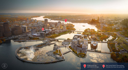 Rendering of the future Zibi development site in Ottawa (CNW Group/Hydro Ottawa Holding Inc.)