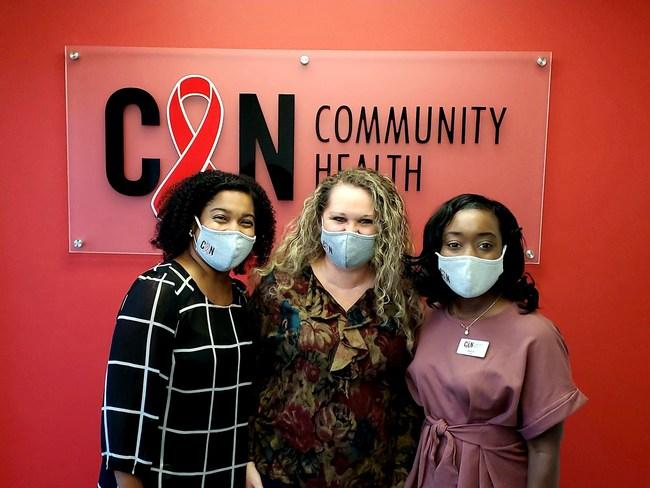 "From right to left; Nadia Winston-Nurse Practitioner, Shannon Dewitt- Front Desk Reception, Demetris ""Demi"" McDowell- Practice Administrator"