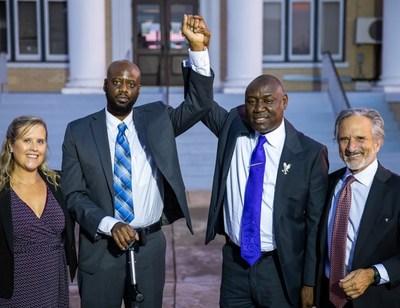 From left: Talley Kaleko, Duane Washington, Ben Crump, Robert Cox