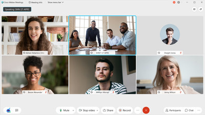 Our new, elegant Webex design puts controls in the most logical place--and even adapts to your screen size.