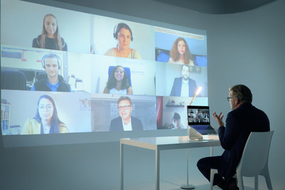CAE becomes first Canadian aerospace company to become carbon neutral. CAE's President and CEO sat down with employees and their children for a live virtual discussion on the environment and CAE's commitment. (CNW Group/CAE INC.)