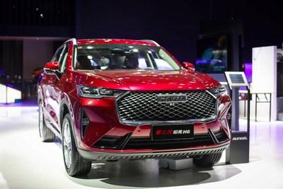A GWM apresenta seu SUV H6 de 3ª geração na Auto China 2020.