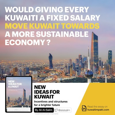 Could basic income move Kuwait towards a more sustainable economy? (PRNewsfoto/Bensirri)