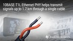 New single-pair Ethernet PHY extends reach of factory and building automation applications