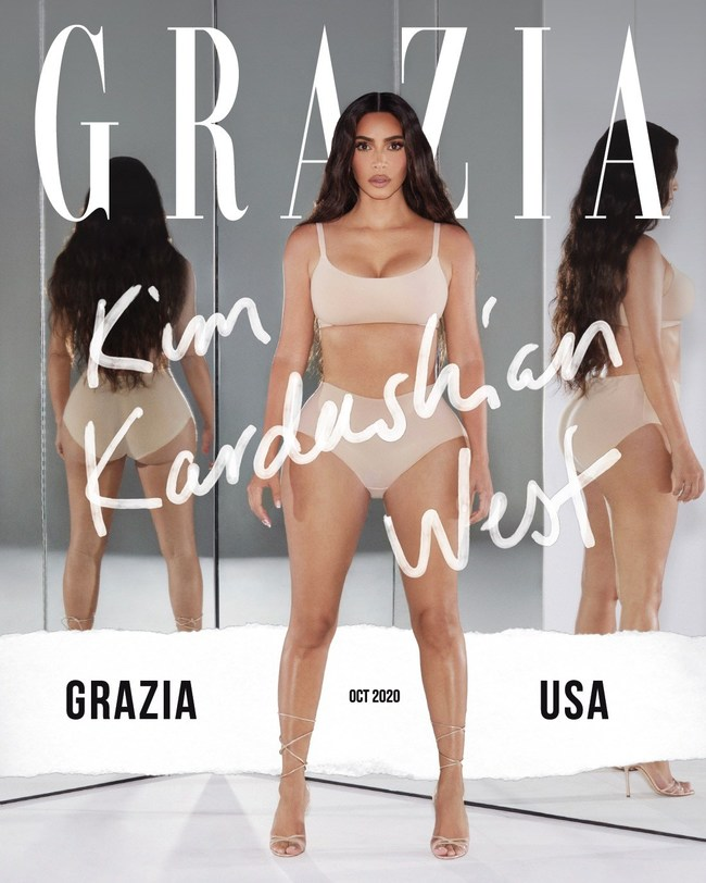 Kim Kardashian-West Grazia USA Digital Cover