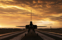 XB-1 at sunset. Flight test in 2021.