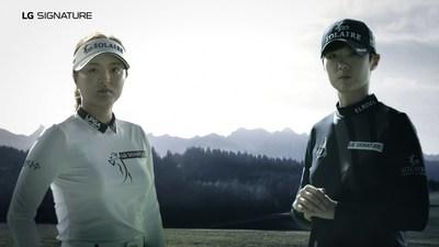 LG SIGNATURE Brand Ambassadors, Ko Jin-young and Park Sung-hyun.