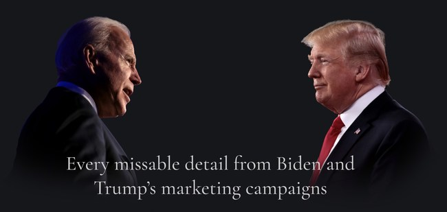 Biden and Trump's marketing tactics couldn't be more different.