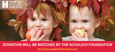 The Schulich Foundation launches a $250,000 donation-matching campaign on behalf of the North York Harvest Food Bank (CNW Group/North York Harvest Food Bank)