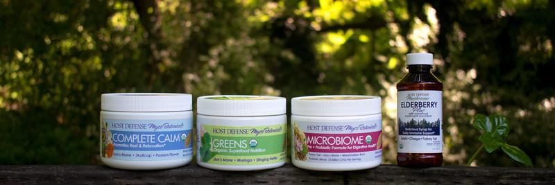 3 new Host Defense® MycoBotanicals™ Powders and Elderberry Plus Syrup