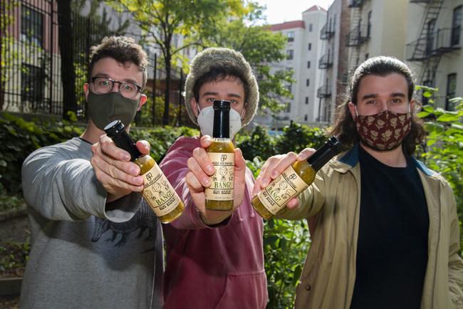 AJR with BANG! Hot Sauce Bottles