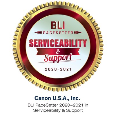 Keypoint Intelligence Recognizes Canon U.S.A., Inc. for its High-Quality Service and Support with BLI PaceSetter Award