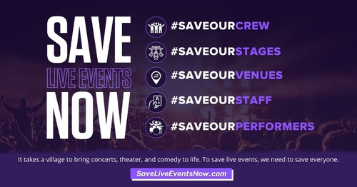 Visit www.SaveLiveEventsNow.com for more information.