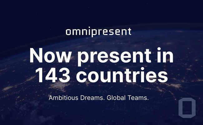 Omnipresent now present in 143 countries.