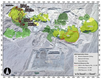 Figure 1: Mineral Resource and Mineral Reserve Map of the Mesquite Mine with 2020 Drilling (CNW Group/Equinox Gold Corp.)