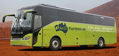 Australia's Fortescue Metals Group recently teamed up with HYZON Motors to build a new fleet of Hydrogen buses. (PRNewsfoto/HYZON Motors)