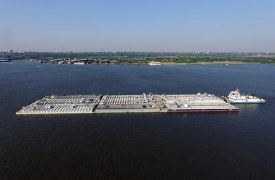 Inmarsat Fleet Xpress traz revolução tecnológica ao Rio Paraná para oferecer vídeo vigilância em tempo real de embarcações em vias navegáveis (PRNewsfoto/Inmarsat)
