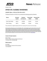 ATCO Q4 2020 Dividend Recommendation (CNW Group/ATCO Ltd.)