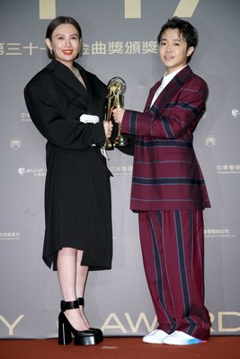 Best Female and Male Vocalist (Mandarin)-Waa Wei and Wu Qing-Feng (PRNewsfoto/Ministry of Culture of Taiwan)
