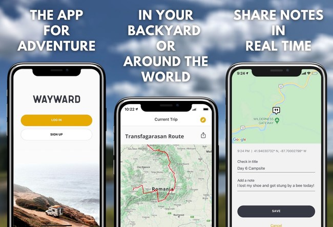 Track and share your adventures.