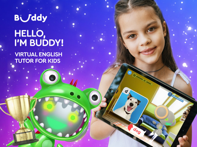Play with Buddy, a virtual English tutor for kids, and practice English.