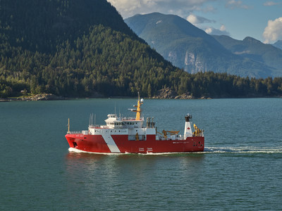 Seaspan Shipyards Delivers CCGS John Cabot, Completing First Class of Ships under Canada's National Shipbuilding Strategy (CNW Group/Seaspan Shipyards)
