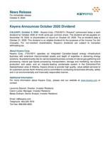 Keyera Announces October 2020 Dividend (CNW Group/Keyera Corp.)