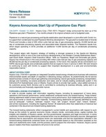 Keyera Announces Start Up of Pipestone Gas Plant (CNW Group/Keyera Corp.)