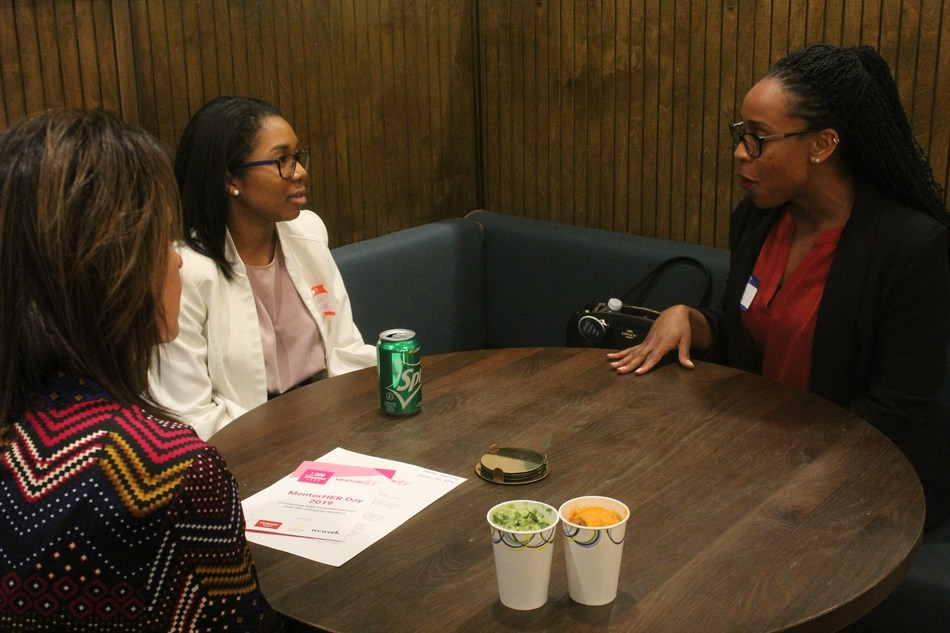 1,000 Dreams Fund's MentorHER Initiative returns for a second year in 2020, featuring 1:1 virtual mentorship sessions for women students with well-matched professionals. MentorHER kicked off in 2019 with a series of live events at WeWork locations nationwide, including this event in Washington, D.C.