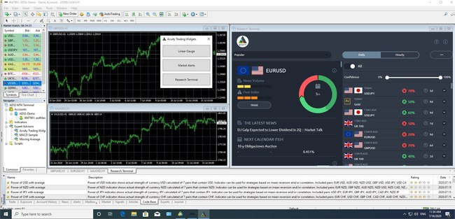Online trading tools: Acuity Trading unveils upgrade to their Research Terminal for the Metaquotes MT4 and MT5 platforms